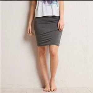 NWOT Aerie Grey Ruched Skirt